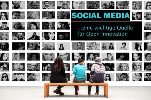 Social Media ist eine wichtige Quelle für Open Innovation.