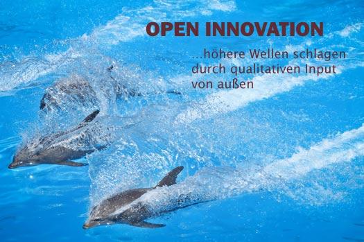 Mit Open Innovation höhere Wellen schlagen durch qualitativen Input von außen.