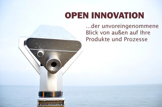 Open Innovation ermöglicht Ihnen einen unvoreingenommenen Blick von außen auf Ihre Produkte und Prozesse